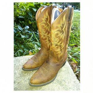 Justin Boots men's 10.5 D WESTERN COWBOY BOOTS